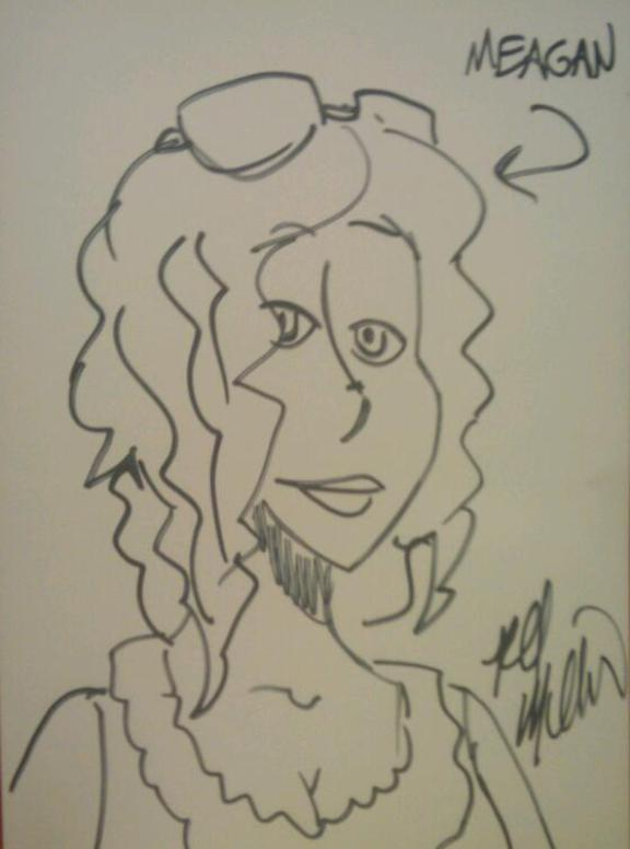 Wonderful Meagan Cartoon Drawing!