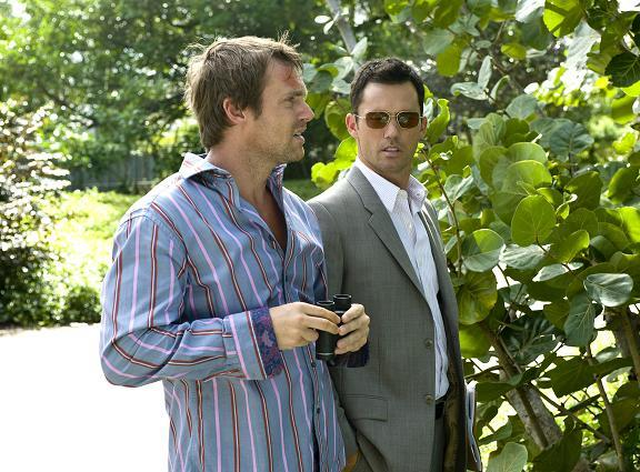 "Michael Shanks as Victor with ""Michael"" in Burn Notice!"