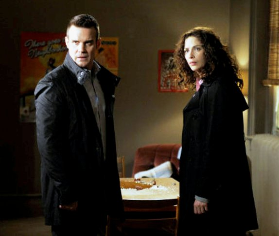 """Eddie McClintock and Joanne Kelly from """"Mild Mannered""""!"""
