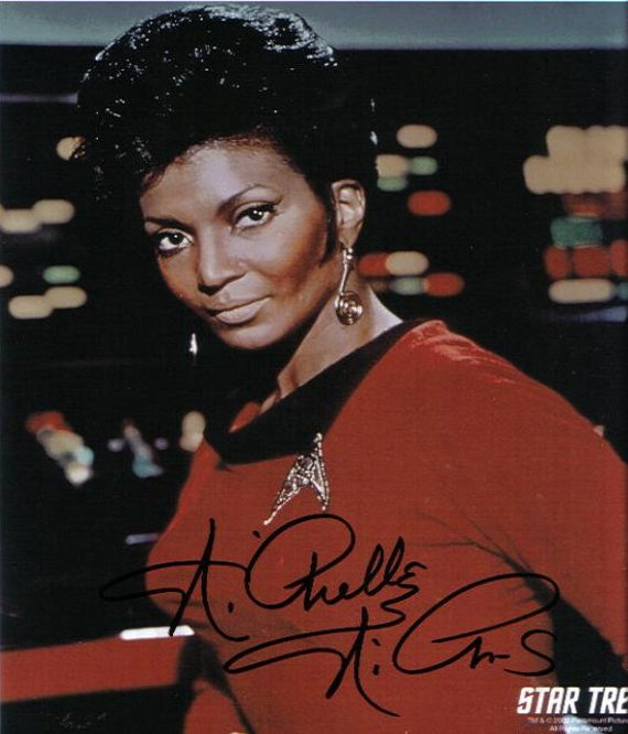 Signed Photo of Nichelle Nichols as Lt. Nyota Uhura