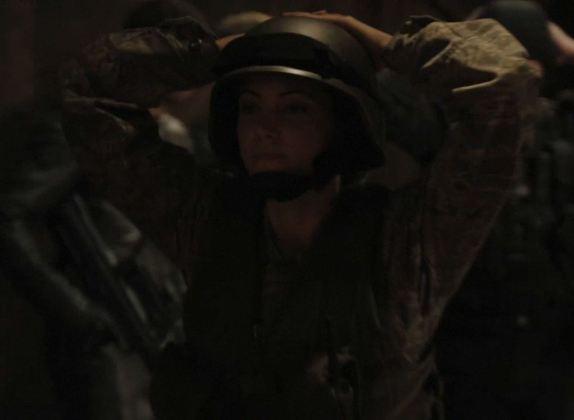 Julia Benson as Lt. James. Click to visit SGU on Syfy