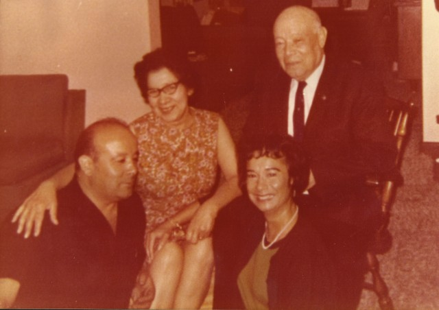 Robert K. Weeks Sr with his family cira 1969 Henry, wife Angie and sister Jeanne