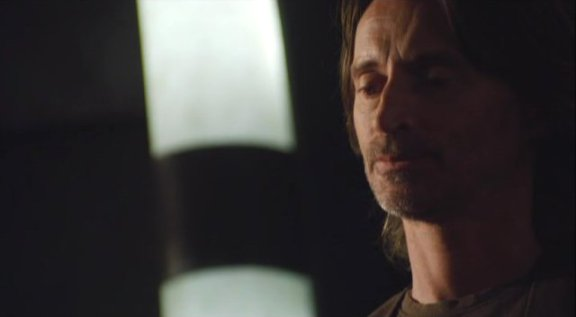 SGU S1x12 Divided Robert Carrlyle as Dr. Rush