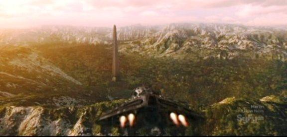SGU S1x13 Faith - Shuttle finds the obelisk