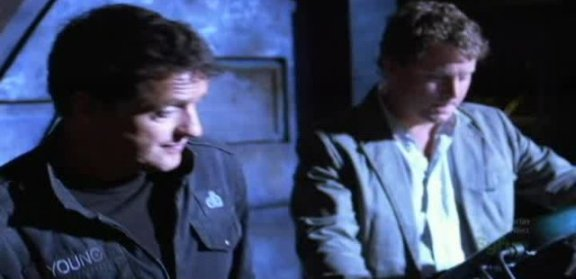 SGU S1x14 Human - Col. Young with Patrick Gilmore as Volker