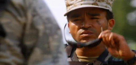 SGU S1x14 Human - Sgt. Greer double take on Eli Kino loss