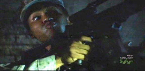 SGU S1x14 Human - Sgt. Greer sees Shelob
