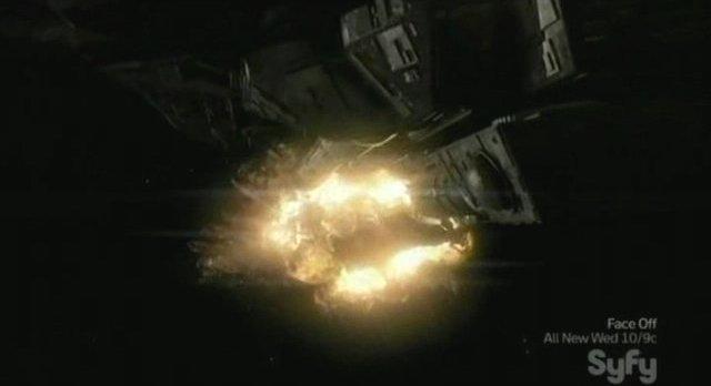 SGU S2x11 - Deliverance - Destiny destroys the Command Ship