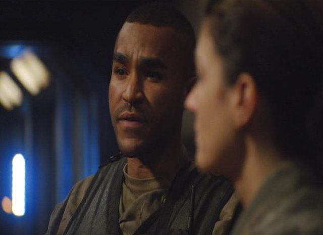 SGU S2x12 Twin Destinies Jamil Walker Smith as Sgt Greer