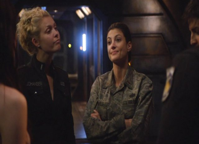 SGU S2x12 Twin Destinies TJ and Lt. James talk about Dr McKay!