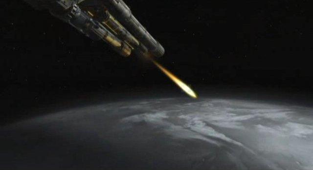 SGU S2x18 - Destiny main gun fires