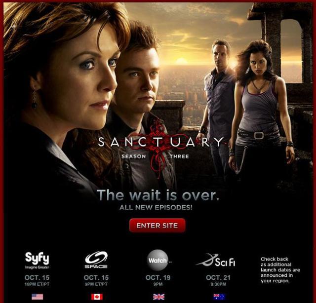 Sanctuary Season 3 Splash. Visit the official site!