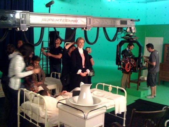 Sanctuary Set AT May 2010 courtesy Amanda Tapping