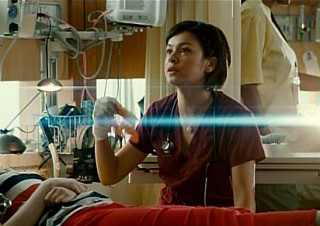 Saving Hope S1x01 - Julia Taylor Ross as Dr Maggie Lin