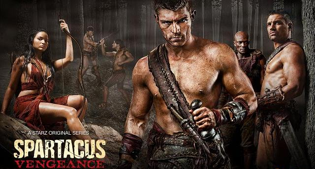 Spartacus Vengeance rebels banner - Learn more at Starz!