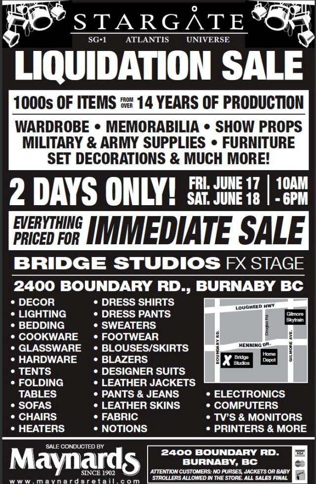 Click to learn more about Stargate Auction June 17-18-2011