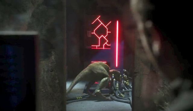 """Terra Nova S01x03 """"What Remains"""" Oversaurs run to cable"""