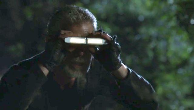 "Terra Nova S01x03 ""What Remains"" Taylor scopes compound"