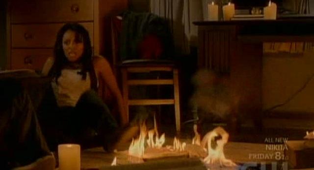 The Vampire Diaries 3x04 Spellbooks on fire