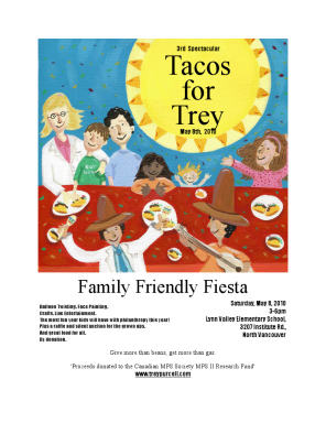 Tacos for Trey Poster - Click to visit and donate!