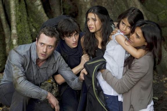 Terra Nova - The Shannon family consists of Jim, Elizabeth, Josh, Maddy, and Zoe.