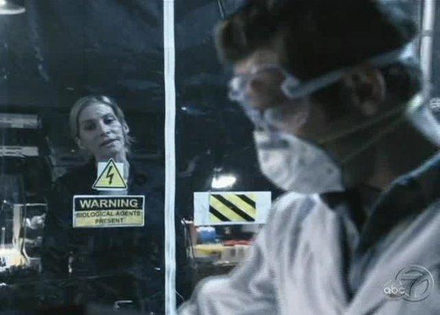 V Series S2x08 - Dr. Sidney Miller in bio-hazard tent