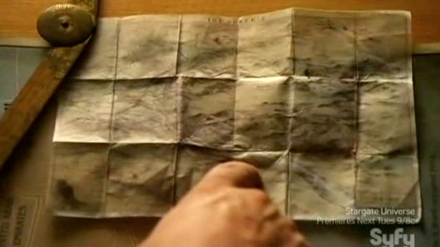 Warehouse 13 S2x11 - Map at campsite
