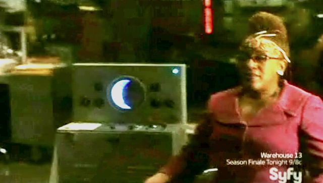 Warehouse 13 S2x11 - Mrs. Frederick getting eclipsed
