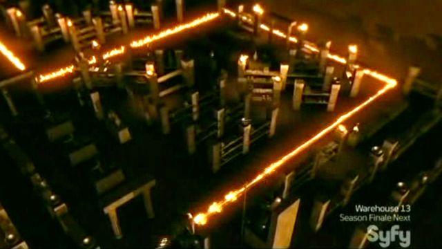 Warehouse 13 S2x11 - Oil illuminates
