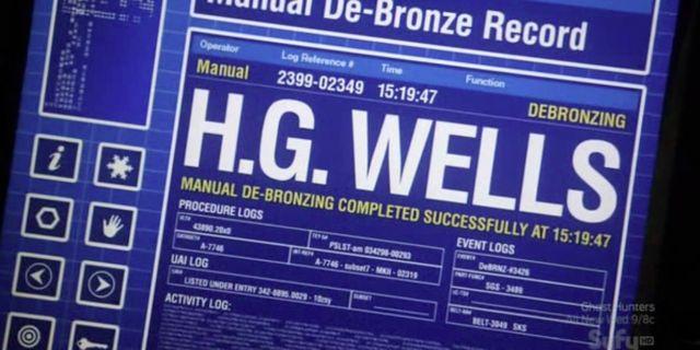 Warehouse 13 S2x10 - H.G. Wells debronze log