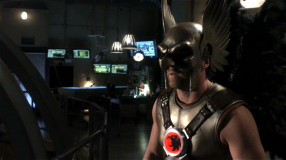 Michael Shanks as Hawkman in Smallville!