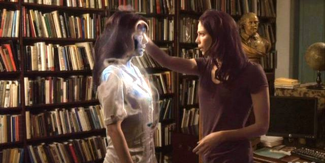 Warehouse 13 S3x01 Holographic H.G. Wells with Myka