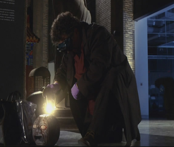 Artie with Blood Stone and Bright Flashing Light