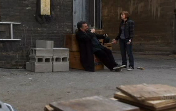 Claudia and Artie in the alley